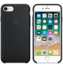 Apple iPhone 8 / 7 Silikon Case - Schwarz