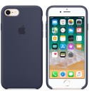 Apple iPhone 8 / 7 Silikon Case - Mitternachtsblau