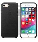 Apple iPhone 8/7 Leder Case Schwarz
