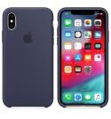 Apple iPhone XS Silikon Case - Mitternachtsblau