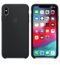 Apple iPhone XS Max Silikon Case - Schwarz
