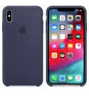 Apple iPhone XS Max Silikon Case - Mitternachtsblau