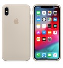 Apple iPhone XS Max Silikon Case - Steingrau