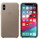 Apple iPhone XS Leder Case - Taupe