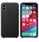 Apple iPhone XS Leder Case - Schwarz