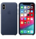 Apple iPhone XS Leder Case - Mitternachtsblau
