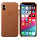 Apple iPhone XS Leder Case - Sattelbraun