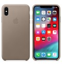Apple iPhone XS Max Leder Case - Taupe