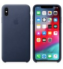 Apple iPhone XS Max Leder Case - Mitternachtsblau