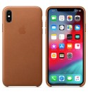 Apple iPhone XS Max Leder Case-Sattelbraun