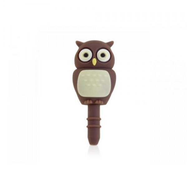 Bone Earphone Cap Owl - iPhone & iPod Touch