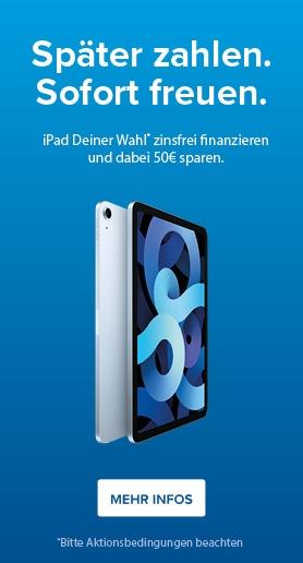 iPad finanzieren und 50€ sparen